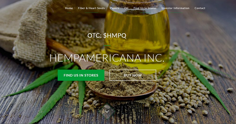 HempAmericana Provides Update on CBD Oil Extraction Facility, Stock